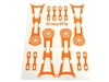 Crazy2Fly Orange Sticker Kit