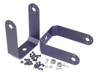 "Aluminum Long ""C"" 755HB/MG Servo Bracket Two Pack"