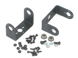"Aluminum ""C"" Micro Servo Bracket Two Pack"
