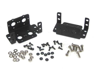 Aluminum Inline Multi-Purpose Rotate Servo Bracket Two Pack