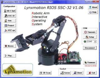 Lynxmotion RIOS SSC-32 Arm Control Software