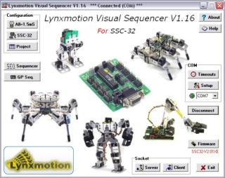 Lynxmotion Visual Sequencer (SEQ-01)